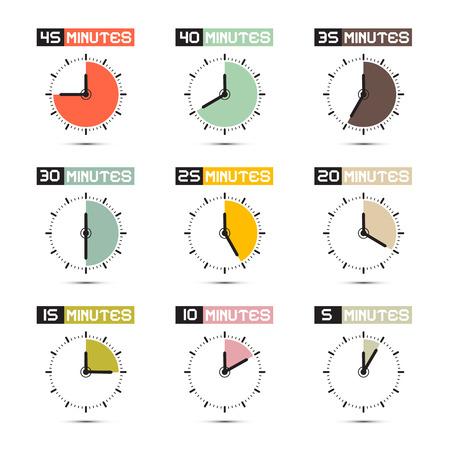 時計の顔ベクトル イラスト セット  イラスト・ベクター素材