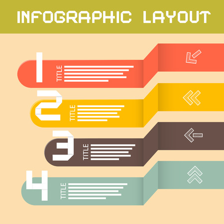 Paper Infographics Layout - Template Vector