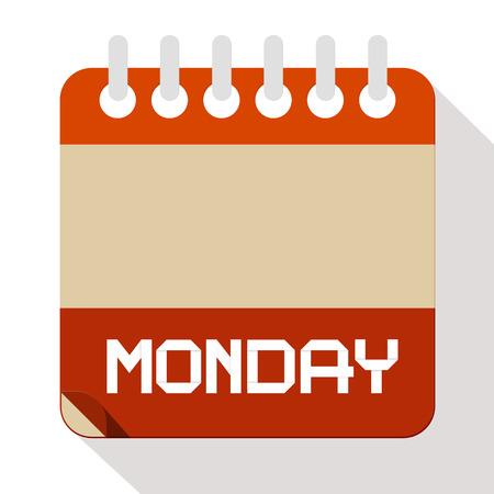 Monday Paper Calendar Illustration Illustration