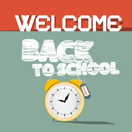Welcome Back to School Retro Illustration Illustration