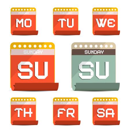 calender icon: Paper Calendar Symbols - Icons Set Illustration Illustration
