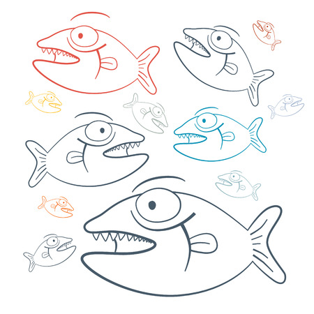 Abstract Vector Fish Illustration Vector