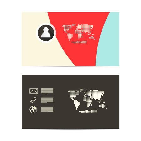 Vector Paper Business Card Template Vector