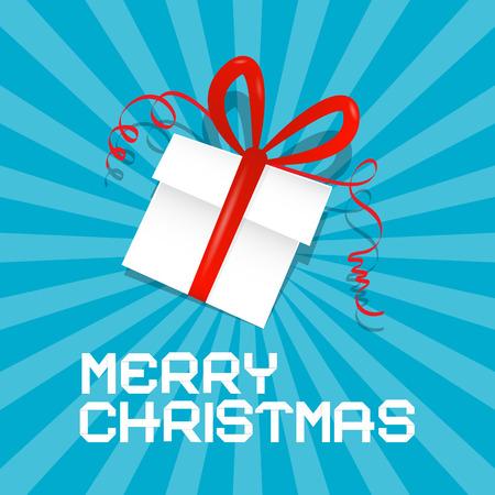 Merry Christmas Blue Vector Illustration Vector