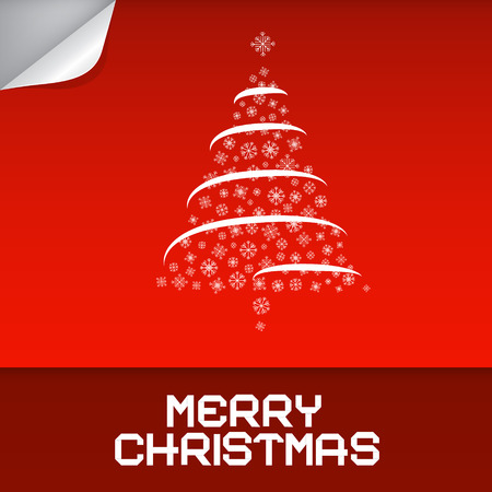Merry Christmas Red Vector Illustration Vector