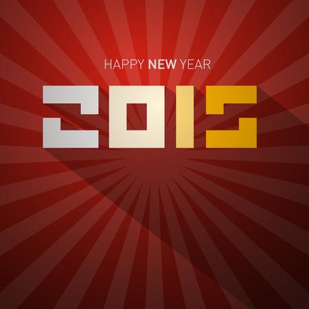 january 1st: 2015 Retro Vector Happy New Year Card
