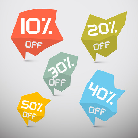 Vector Discount Sale Tags Set Vector