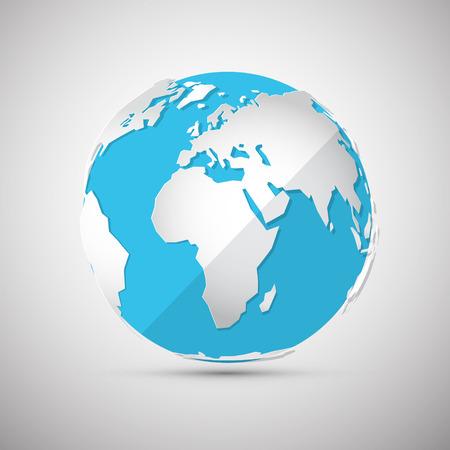 ベクター グローブ - 地球 - 地球図  イラスト・ベクター素材