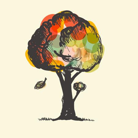 Colorido del vector del árbol