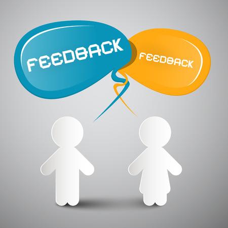 feedback: Feedback Vector Illustration with Paper People Illustration