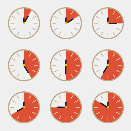 contagem regressiva: Clock - Tempo Contagem regressiva Vector Set
