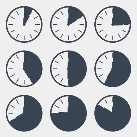countdown: Clock - Time Countdown Vector Set Illustration