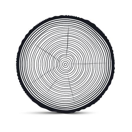 rings on a tree: Tree Rings Vector Illustration