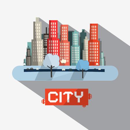 spedition: Abstract Vector City Illustration Illustration