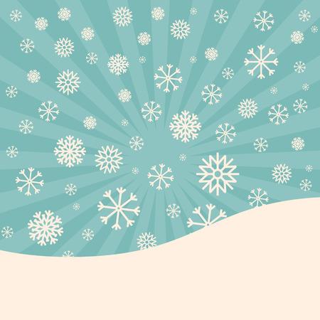 winter vector: Abstract Winter Vector Background