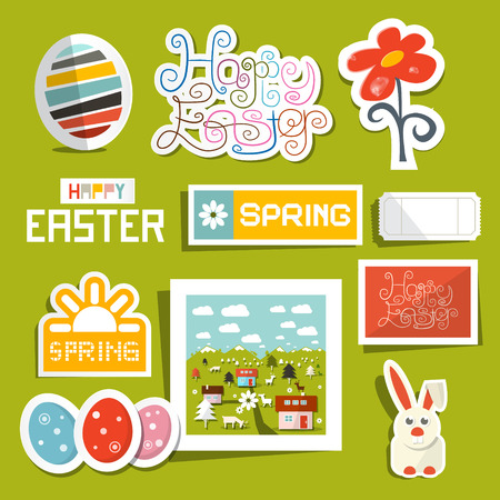 Vector Easter Symbols - Objects Set Vector