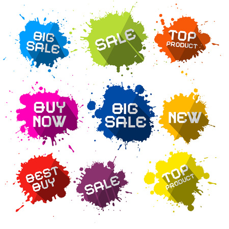 Colorful Splashes with Sale Business Text Ilustracja