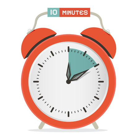 Ten Minutes Stop Watch - Alarm Clock Vector Illustration Ilustrace