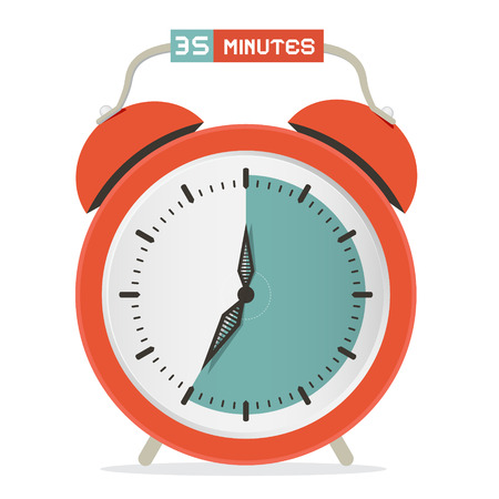 thirty five: Thirty Five Minutes Stop Watch - Alarm Clock illustrazione vettoriale