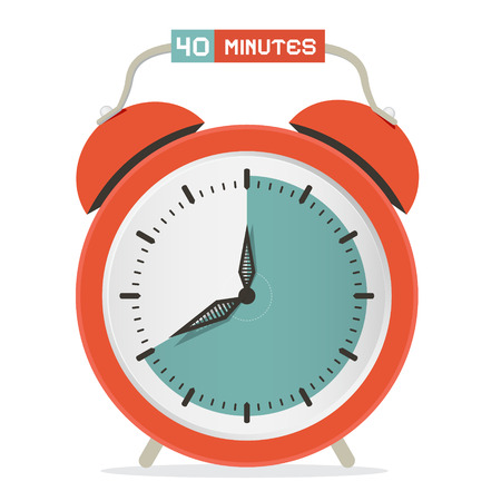 Forty Minutes Stop Watch - Alarm Clock Vector Illustration Vector