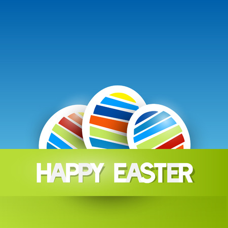 colour background: Easter Vector Background with Paper Eggs