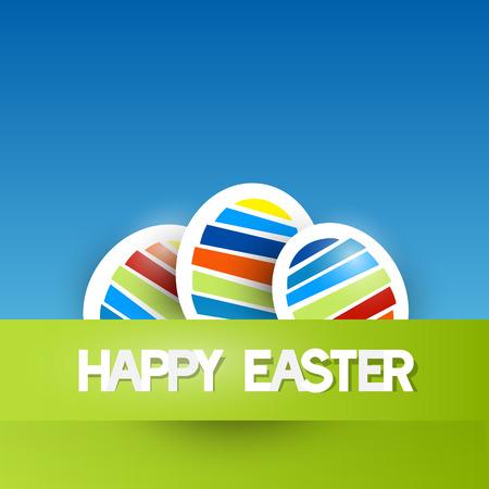 fond de texte: Vector Easter Background Paper avec oeufs