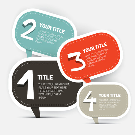 businees: Paper Four Steps Infographics Layout Vector