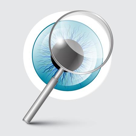ojo azul: Vector Lupa con Blue Eye Vectores