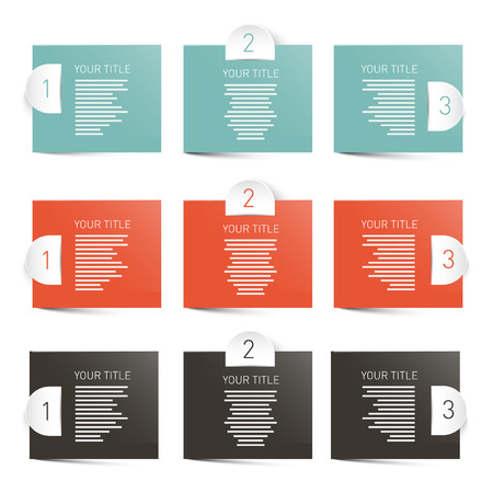 Paper Labels Infographics Layout Vector