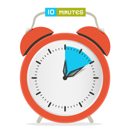 stop watch: 10 - Ten Minutes Stop Watch - Alarm Clock Vector Illustration