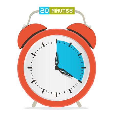twenty second: 20 - Twenty Minutes Stop Watch - Alarm Clock Vector Illustration Illustration