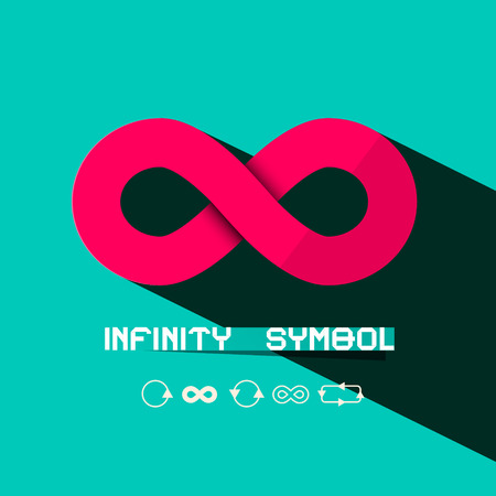 infinity symbol: Infinity Symbol - Retro Vector Illustration