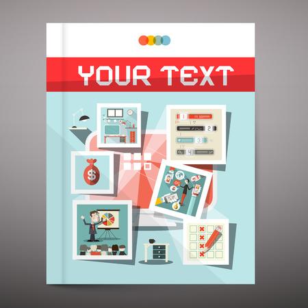 Brochure - Business Book Vector Cover Design Vector
