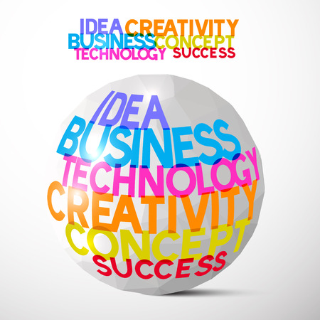 paper ball: Idea Business Technology Creativity Concept Success Paper Ball Vector Illustration Illustration