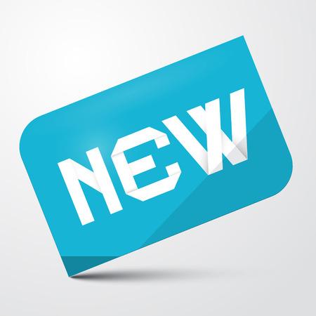 Blue Paper Sticker - Label with New Title Vektorové ilustrace