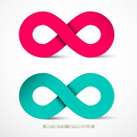 signo infinito: Símbolos Infinity Papel Set Vector
