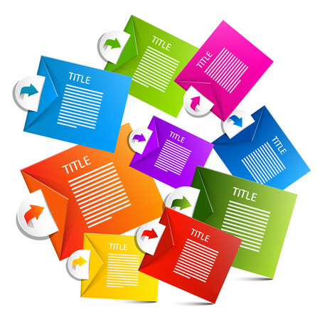 Infographics Colorful Vector Paper Labels Vector