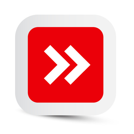 Vector Double Arrow in Red Paper Rounded Corners Square 向量圖像