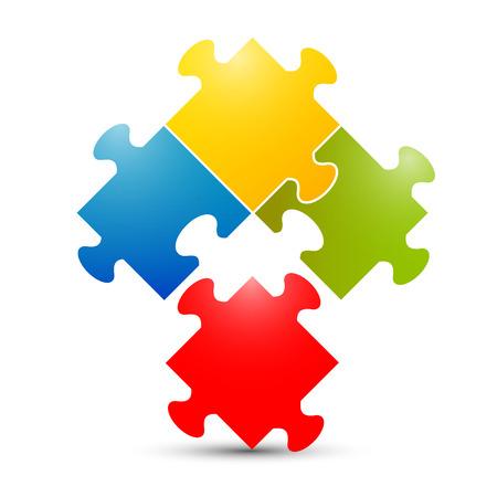 color match: Colorful Puzzle Vector Illustration