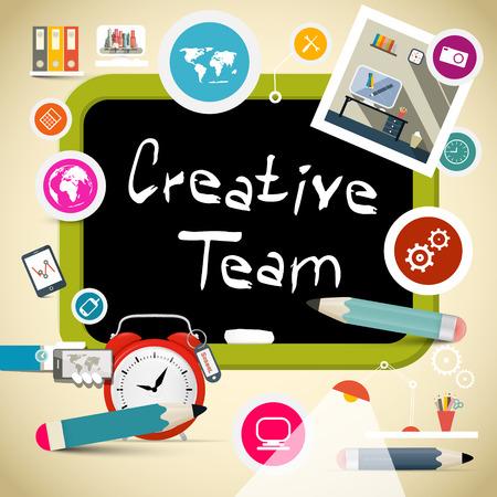 intermediate: Creative Team Vector Illustration