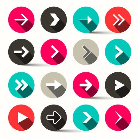 Arrows in Circles - Vector
