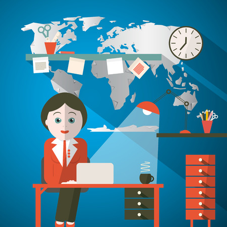 to the secretary: Secretary in Office or Presenter in Studio with World Map