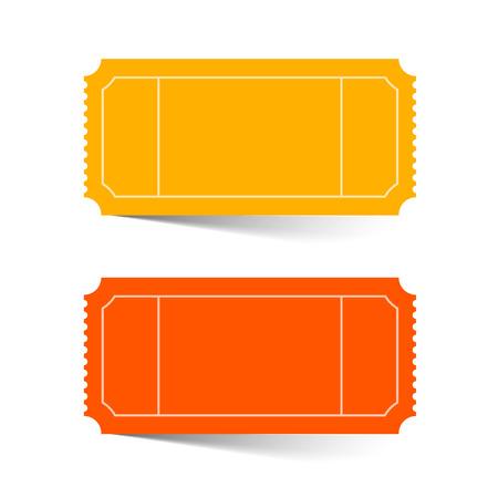Tickets set - Rood en oranje vector illustratie geïsoleerd op wit