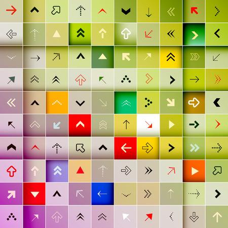 green arrow: Arrows Vector Background