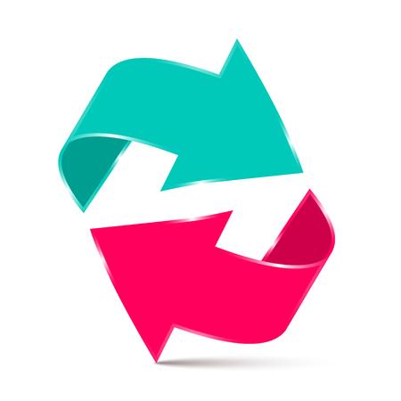 fl�che double: Double Arrow - 3D Vector Illustration