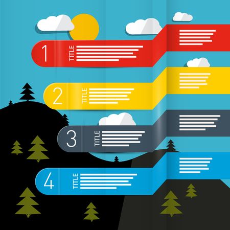 forecasting: Weather Forecasting Vector Infographic Layout