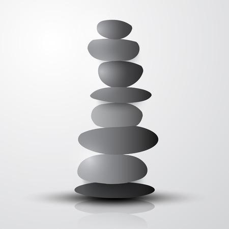 heap: Stones - Pebbles Heap Vector Illustration