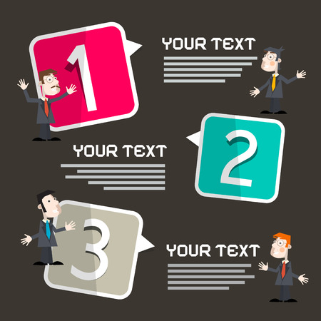 Infographics Template with Men - Businessmen Ilustrace