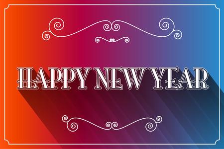 slogan: Happy New Year Slogan Vector Illustration