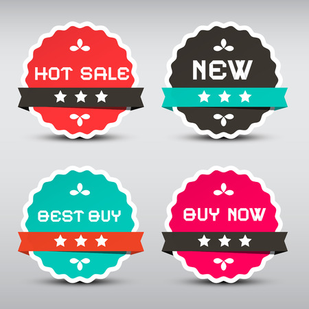 best buy: Business Vector Paper Labels Set with New - Best Buy - Hot Sale and Best Buy Titles